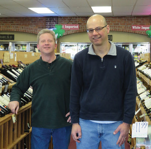David Mellen, store manager and Owner Jim Pabich.