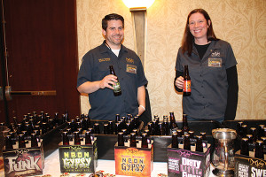 Jeremy Knapp, Maryland Sales Manager, Duclaw Brewing Company; Laura Day, VP of Sales, Duclaw Brewing Company.
