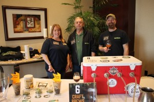 Melissa Timmann, Owner, Craft Brew Supplies; Phil Slotter, Employee, Craft Beer Supplies; Chris Timmann, Owner, Craft Beer Supplies.