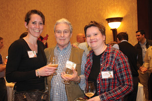 Jocelyn Doherty of Island Wine and Spirits in Newport; Steve and Laura Millmather of Knights Liquors of Johnston, Rhode Island.