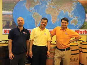 Yankee Discount Liquors team includes Subash Aryal, technology; Deepak Pattanim Owner; Babu Khatiwada, manager.