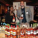 Deerdra Cetoute, Promotions, Mount Gay Rum with Alex Thibault, Key Account Manager, Remy Cointreau USA with Mount Gay Rum.
