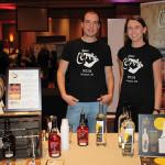 Brent Ryan, Master Distiller, Newport Distilling Company and Clare Simpson-Daniel, Public Relations and Events Captain, Newport Distilling Company.