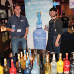Dana Strom, Regional Manager New England, Fishbowl Spirits; Nate Churchill, United States Bartenders Guild Philadelphia chapter member with Blue Chair Bay Rum.