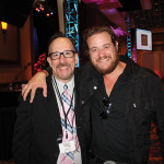 "Frank Martucci, General Manager Beverage Operations, Twin River Casino with Russell Davis, Event Emcee. Davis appears on Spike TV's ""Bar Rescue."""