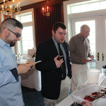 George Verlezza, General Manager, Bistro B, Westport; Geoff Troup, Sales Consultant, Eder Bros.; Bob Feinn, Mt. Carmel Wine and Spirits, Hamden; Janna Waite, Key Account Manager, Wine Educator, Eder Bros.