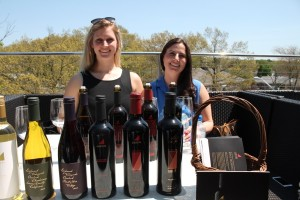 Emma Bzdafka and Katie Klotzberger, representatives from Justin and Landmark Vineyards.
