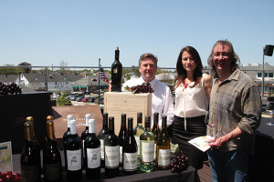 Bill Saroka, Wine Director, Hartley & Parker; Teresa Drew, State Manager and CSW, Delicato Family Vineyards; Art LiPima, Manager, Seaside Wine and Spirits of Old Saybrook.