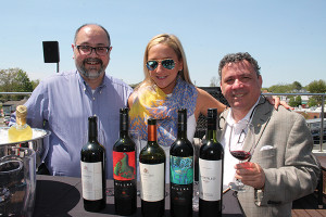 Gianpiero Peru, Palm Bay International; Crissy Peterson, Select Brands Manager, Hartley & Parker; Antonello Cozzula, Italian Fine Wine Manager East Coast, Palm Bay International.