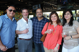 Sanjay Israni, Liquor World; Steven Leon, Wine Cellars 4; Arun Lillaney, Liquor World; Karishma Lillaney, Liquor World; Anrita Israni, Liquor World.