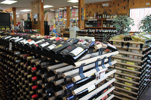 Inside Windham Wine and Spirits.