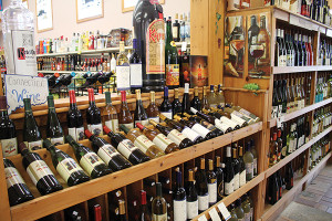 Inside Windham Wine and Spirits.