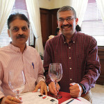 Bhavesh Patel of Locascio Liquids in Prospect with Sanjiv Gupta of International Wines and Spirits in Middlebury.