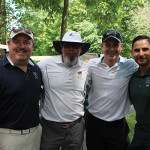 All from Hartford Restaurant Group: Rob Melillo; Ken McAvoy; Phil Barnett, Chairman of the Board of Directors, Connecticut Restaurant Association and Paul Motta.