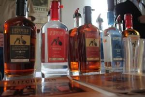 The Litchfield Distillery portfolio features bourbon, double barrel bourbon, port finish bourbon, gin, and a vodka.