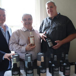 All from Espiritus Group: Brian Woods, Chris Leskowicz and Randall Bird with Lost Distillery Scotch of Scotland and Six Saints Rum of Grenada Caribbean Rum.