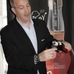 David Eber, President, Santa Maria Imports, pouring a spirit sample.