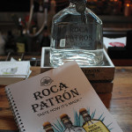 Roca Patrón display at the bar to educate trade and consumer guests about the spirit.