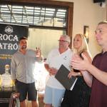 Amada Pekar, Portfolio Manager Patrón Spirits, CDI, introducing the three judges: Brett Thomas, Gary Driscoll and Mike Mills, Senior Brand Ambassador, RIPE Bar Juice.