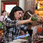 Stacey Giatas took second place with her cocktail.