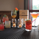 A line-up of cocktails created during the competition.