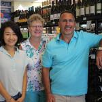 Laura Hong, Store Employee; Kim Ertelt, Store Employee; and David Galanto, Owner.