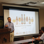 Robert Sussler, Executive Vice President and General Manager, Brescome Barton during the Boulevard Brewing Company beer launch.