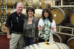 Bill and Cindy Seckinger, Muckey's Liquors in Massachusetts with Winemaker Elaine Bernier.