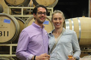 M. Peter Buckley and friend from Newport Wine Cellar.