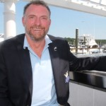 Snow Leopard Trust UK and Snow Leopard Vodka Founder Stephen Sparrow at BLU Restaurant in East Greenwich, Rhode Island.