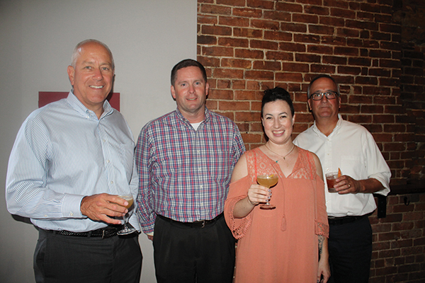 Joe Morenzi, General Manager, Rhode Island Distributing Co.; Chris Woods, Vice President of Sales, Rhode Island Distributing Co.; Jennifer Hussey, Sales Representative, Rhode Island and Massachusetts, Copper & Kings; Fred Andrade, Sales Representative, Rhode Island Distributing Co.