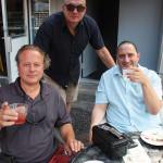 John Gasbarro, Owner, Oaklawn Liquors; Rich Lupiano, Oaklawn Liquors; and Mark Murtagh, Oaklawn Liquors.