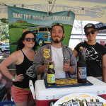 All of Two Roads Brewing Company of Stratford: Caitlin Guelakis, Jared Emerling and Laura Markis.
