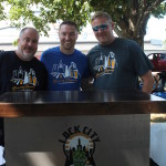 Burke Haugh, volunteer; Mike Pushnell, Co-Founder, Lock City Brewing Company; Patrick Casicolo, Co-Founder, Lock City Brewing Company.