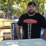 Matt Longo, Sales, Sarene Craft Beer Distributors, pouring tastes of SingleCut Beer of New York.