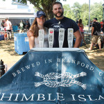 Lindsay Parschaul and Dan Cole, Brewery Manager, Thimble Island Brewing Company.