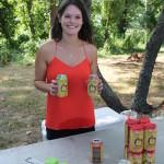Lisa Bufe, volunteer, pouring Cider Creek Hard Cider samples.