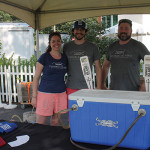 All of Thimble Island Brewing Company of Branford: Katy Loomis, Bem Loomis and Dave Morgan.