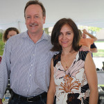 Kevin McGill of Dendor Wine Management with Jolanta Tomaselli of La Spinetta and Indigenous Wines.