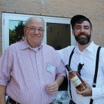 Marvin Friedman, Owner, Maple End Package Store with Donal O'Gallachoir, Brand Manager, Glendalough Irish Whiskey.