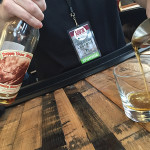 "A pour of 20-year-old Pappy Van Winkle during ""Savor the Legends"" presented by plan b Burger Bar."