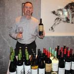Matthew Shakespeare, Area Wine Manager CT/MA/ME/RI/VT, Don Sebastiani & Sons, holding Gunsight Rock Cabernet Sauvignon.