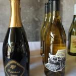 Wines on display.