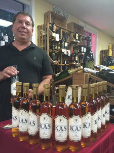 George Haverly, Brand Ambassador, KAS Spirits, during the in-store tasting of KAS Krupnikas at Village Wine.