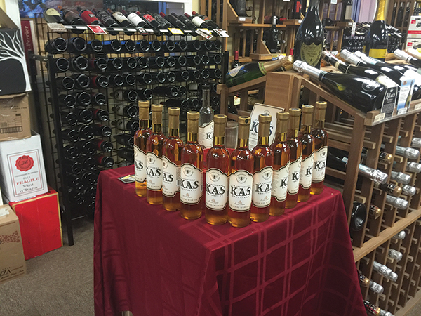 KAS Krupnikas on display at Village Wine.