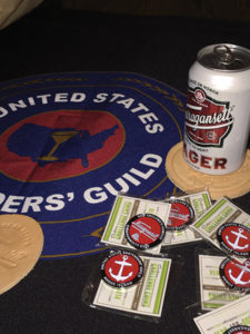 USBG RI launched its new challenge coin, which is sponsored by Narragansett Beer.