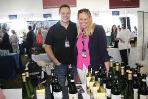 Jonathan Hetz, Wine Consultant, Quigley Fine Wines with Dana Wright, Quigley Fine Wines.