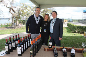 Brett Allen, General Manager, MS Walker; Valentina Abbona, Marchesi Di Barolo Vineyards; Ian Magiros, On-Premise Key Account Specialist, MS Walker.