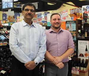 Owner Bhaskar Sureja with Store Manager Bill DiRienzo