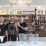 Ordinary's Dave Blomberg, Ben Zemke and Tim Cabral mixing cocktails featuring Opici's spirit portfolio.